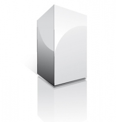 three dimensional box vector image vector image