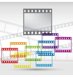 Abstract background with a film strip Eps 10 vector image vector image