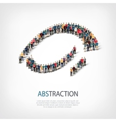 abstraction people 3d vector image vector image