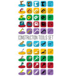 construction tools set in different style outline vector image