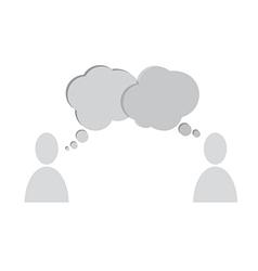 speech bubbles people vector image vector image