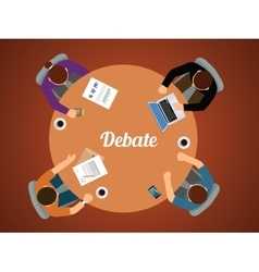 team debate together view from top graphic vector image vector image