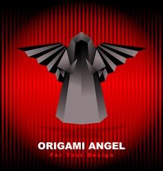 black origami angel vector image