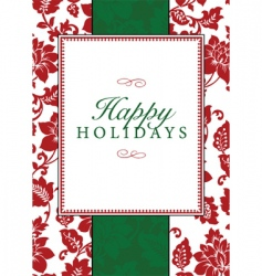 Christmas frame and pattern vector image vector image