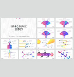 collection of minimal infographic design templates vector image vector image