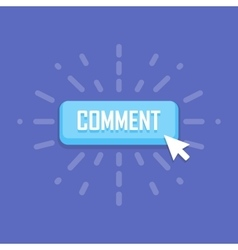 Comment button template design Business vector image vector image