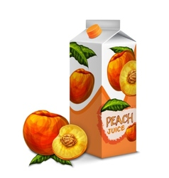 Juice pack peach vector image vector image