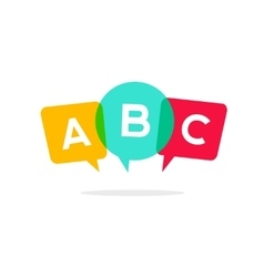 Learn ABC letters icon child speaking vector image vector image
