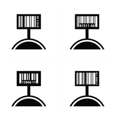 price tag set and barcode design vector image