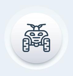 quad bike linear icon vector image