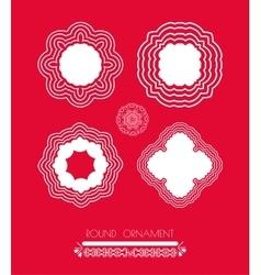 Set of Christmas white snowflakes vector image