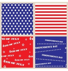 Set of seamless textures with USA Independence Day vector image vector image