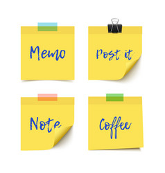 Sticky notes paper vector