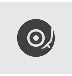 Vinyl turntable icon vector image