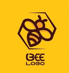 BEE LOGO 5 vector image
