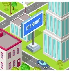 City Format Car Driving at the Road of Urban Town vector image vector image