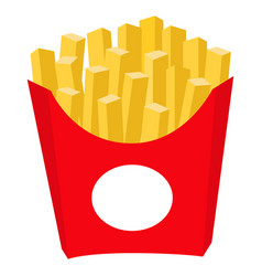 colorful french fries potato chips fast food icon vector image vector image