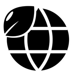 ecology earth globe icon simple style vector image
