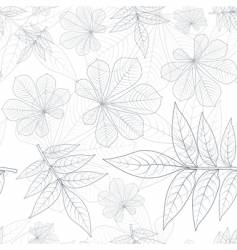 leaves silhouette pattern vector image vector image
