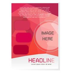 Red Brochure Design Template vector image