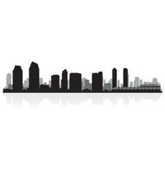 San Diego USA city skyline silhouette vector image vector image