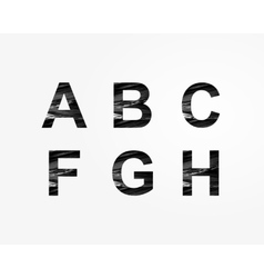 Stylized font vector image