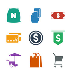 9 buy icons vector image