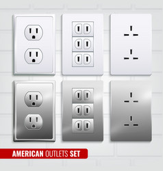 American outlets set vector