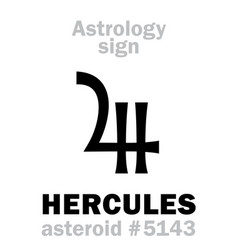 Astrology asteroid hercules heracles vector