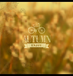 Autumn vintage blurred background vector