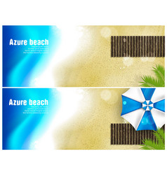 beach banner for facebook poster design vector image