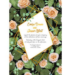 beautiful watercolor greeting card wedding vector image