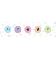 Birth icons vector