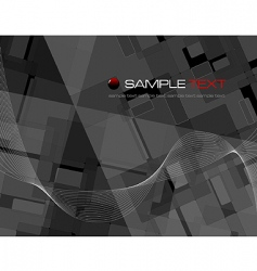 black abstract composition vector image