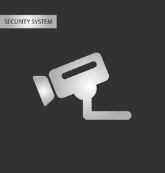 black and white style security camera vector image