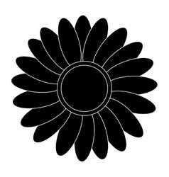 black flower icon vector image