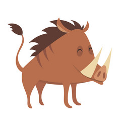 cartoon warthog drawing vector image
