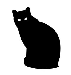 Cat silhouette icon eps vector