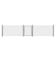 chain-link fencing with wicket realistic vector image