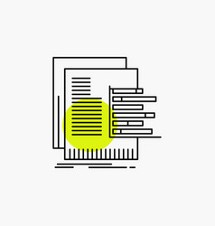 Chart data graph reports valuation line icon vector