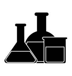 chemical flask icon vector image