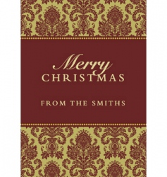 Christmas damask background vector image