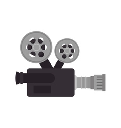 Cinema retro camera vector