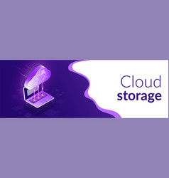 cloud computing 3d isometric concept the process vector image