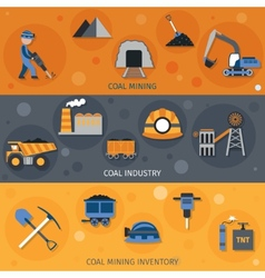 Coal Industry Banners vector image