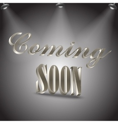 Coming soon image vector image