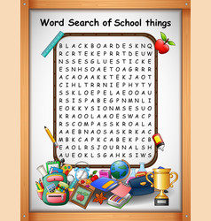 crossword puzzles word find school things for kids vector image