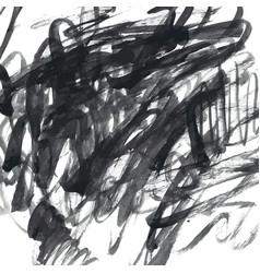 Dark gray ink watercolor doodles vector