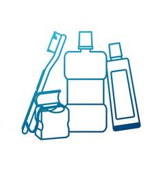 Dental hygiene products vector