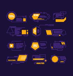 digital callouts modern web layout communication vector image